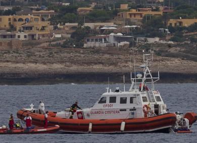 File photo of the Italian Coast Guard.