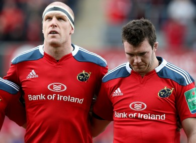 Paul O'Connell and Peter O'Mahony are key to Munster's chances in France.