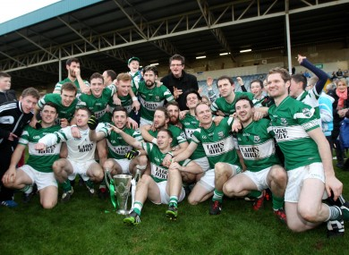 Portlaoise celebrate their recent Laois county final win.
