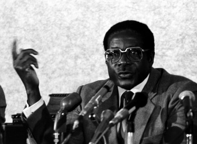 Robert Mugabe during his visit to Ireland in 1983.