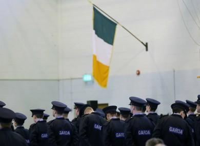 Members of the Garda Reserve graduate in Templemore during the week.