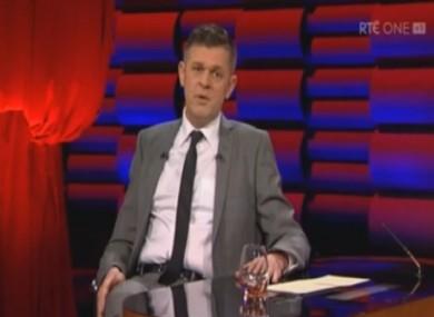 Brendan O'Connor on the Saturday Night Show