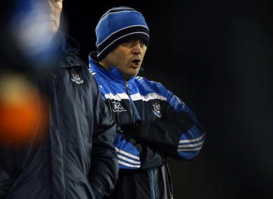 Dublin hurling boss Anthony Daly at Parnell Park tonight.