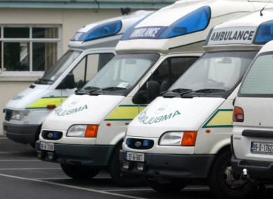 File photo of ambulances.