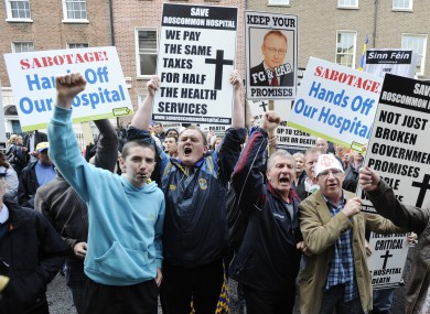 A rally against the closure of Roscommon Hospital in 2011