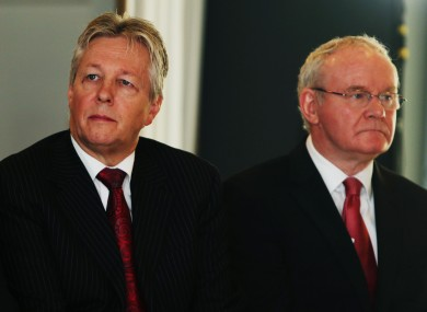 Peter Robinson and Martin McGuinness (File photo)