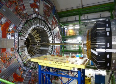 Part of the CMS detector at the Large Hadron Collider