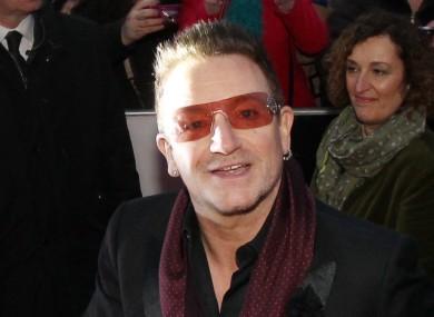 Bono at the European premiere of Lincoln.