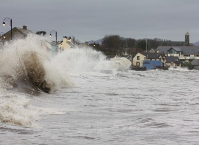 The impact of the storm in just one area of the country in Blackrock, County Louth