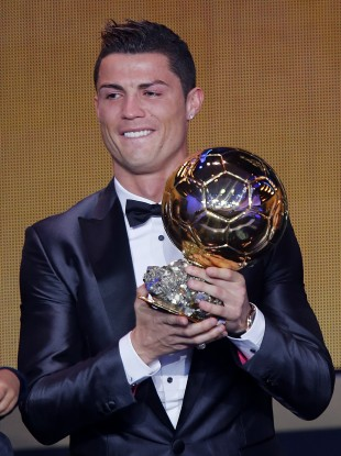 1b00f542a68 Ronaldo wins Ballon d Or to end Messi s run at four · The42