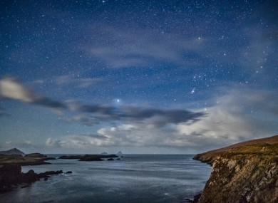 Skelligs and Orion from Valentia, Co. Kerry.