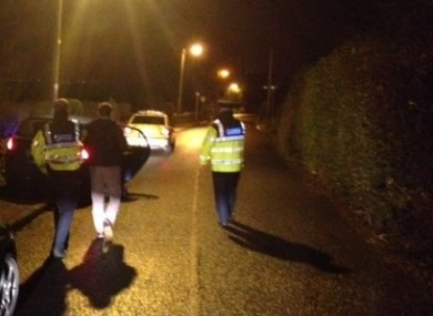 One man is arrested and taken into custody after failing a breath test in Howth