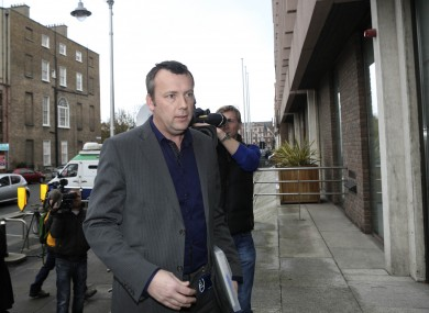 Brendan Ogle after speaking to the media outside the ESB headquarters in December.