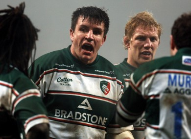 Corry was captain at the Leicester Tigers during a strong era in the club's history.