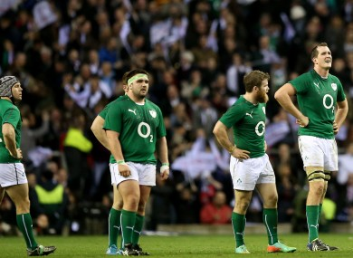 Ireland's evening ended in disappointment at Twickenham.