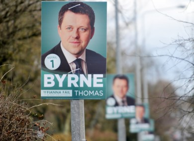 Posters for Thomas Byrne in Meath East during last year's by-election.