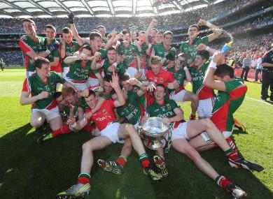 Last year's All-Ireland minor football champions Mayo.