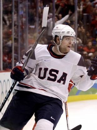 Phil Kessel was instrumental in the US reaching the last men's Olympic ice hockey final in Vancouver.