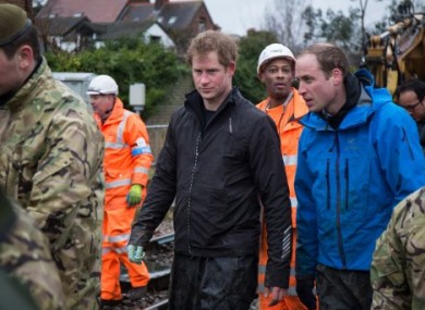 The Princes help out in Datchet, Berkshire