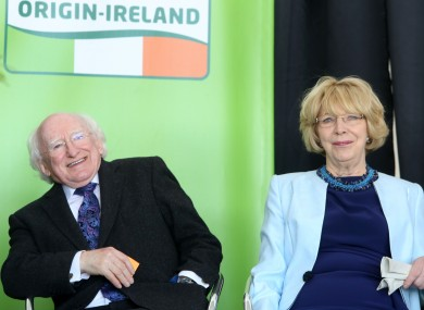 President Higgins and his wife, Sabina