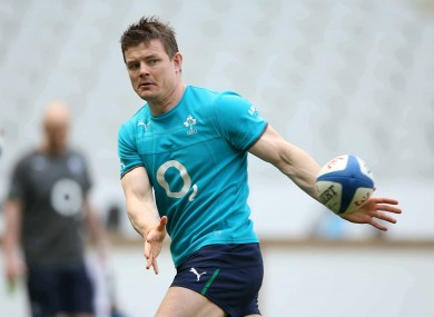 Brian O'Driscoll pictured during today's Captain's Run.