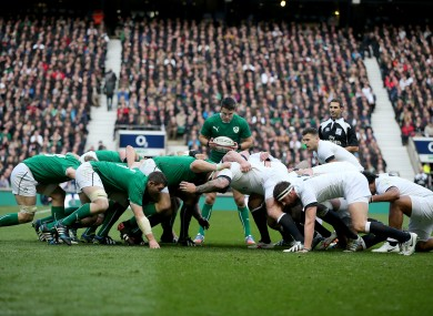 Ireland's pack excelled at scrum time against England.
