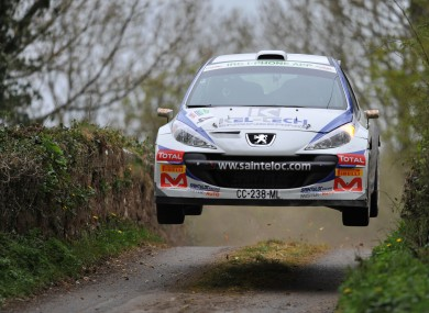 Breen in action at the 2012 Circuit of Ireland Rally.