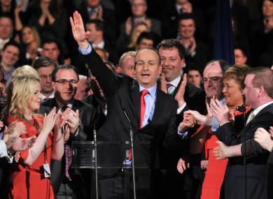 Micheál Martin at last year's Fianna Fáil Ard Fheis.