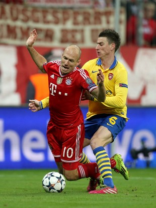 Robben goes down last night.