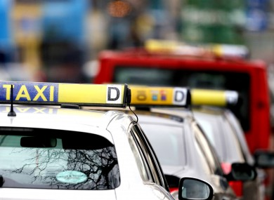Taxis in line at O'Connell street.