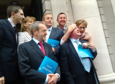 Enda Kenny and Fine Gael's MEP candidates at today's launch.