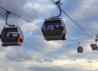 The Emirates cable car in London.