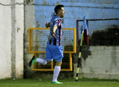 Declan O'Brien scored for Drogheda tonight (file pic).