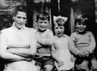 Undated file photo of Jean McConville (left) with three of her children.