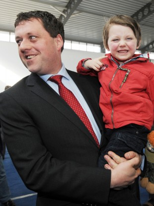 Thomas Byrne and his son Tomas (File photo)