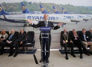 Taoiseach Enda Kenny at Ryanair's new campus.