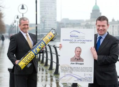 General Secretary of the National Irish Taxi Association (NITA) Jerry Brennan (left) with Junior Minister Alan Kelly.