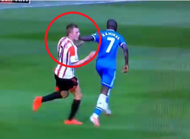 Ouch: the officials missed the clash between Ramires and Sebastian Larsson.