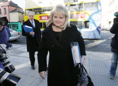 Angela Kerins arriving at Leinster House in February.