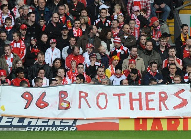 Liverpool fans observe a minutes silence in memory of the Hillsborough disaster (file photo).