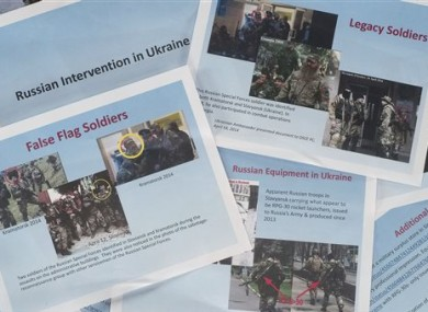 The State Department has released images of soldiers in eastern Ukraine that it says are Russian forces.