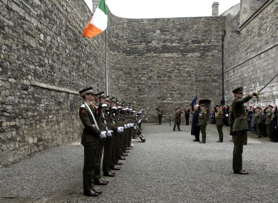 Kilmainham Gaol during the 90-year commemorations of the Rising.