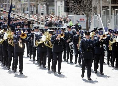 File photo of the Garda band.