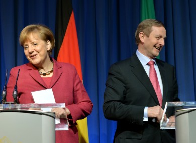Sure we're great friends: Angela Merkel and Enda Kenny at the EPP conference in Dublin in March.