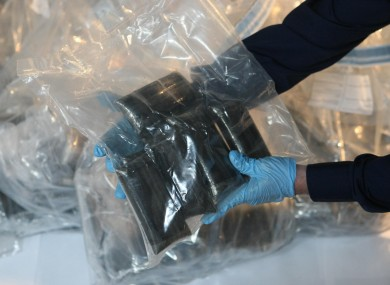 File photo of herbal cannabis and cannabis resin seized by gardaí
