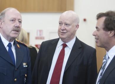 Brian Purcell (centre) alongside former Garda Commissioner Martin Callinan and former Justice Minister Alan Shatter.