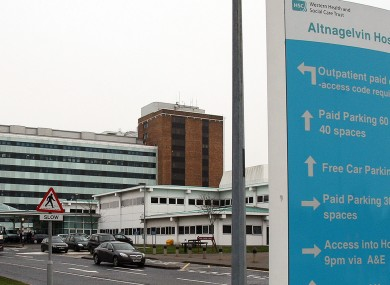 Altnagelvin Hospital, where the elderly man is being treated.