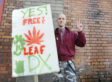 Legalise cannabis protest
