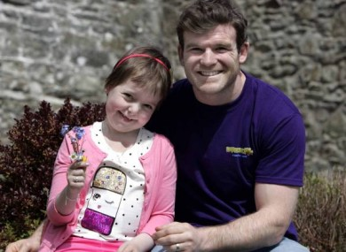 Rugby star Gordon D'Arcy with Louise Shortall.