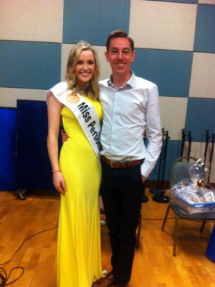 Miss GAA Laura McCormack with Ryan Tubridy.